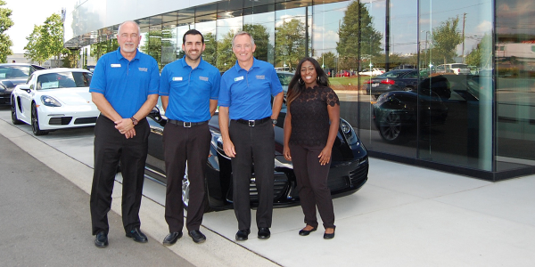 Hendrick Porsche's F&I and customer experience team includes Financial Services Manager Mark...