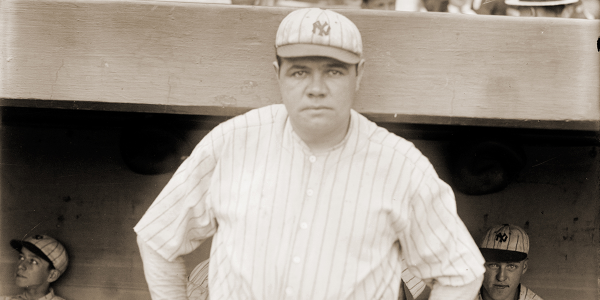 Babe Ruth became a baseball legend by hitting home runs, but he won pennants by batting runners...