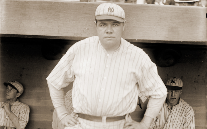 Babe Ruth became a baseball legend by hitting home runs, but he won pennants by batting runners in.   - Photo by George Grantham Bain via Wikimedia Commons