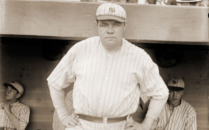 Babe Ruth became a baseball legend by hitting home runs, but he won pennants by batting runners in. 
