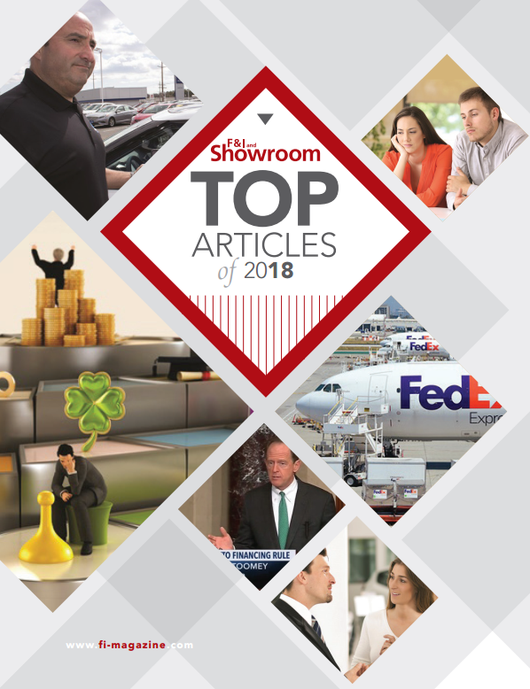 F&I and Showroom - Top Articles of 2018