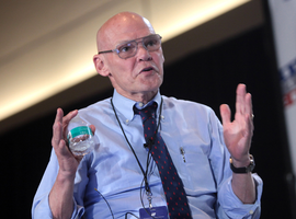 """James Carville famously scrawled """"It's the economy, stupid"""" on a blackboard during President Bill Clinton's 1992 campaign, reminding directors and staffers of that election season's linchpin issue."""