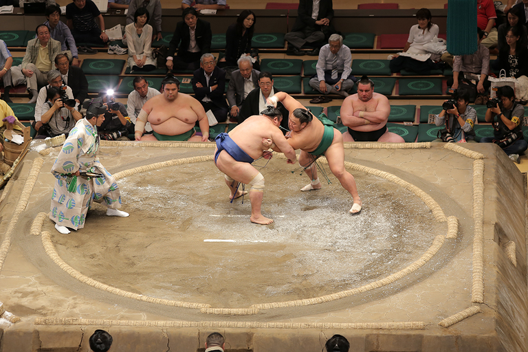 Yokozuna wrestle last, drawing the biggest crowds and guaranteeing the evening ends on a high...