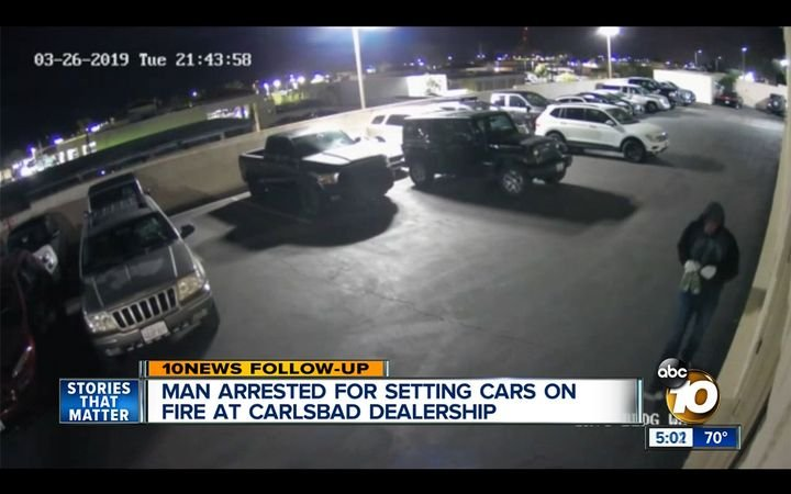 Upgraded security cameras intended to document exterior damage on vehicles entering the service department helped police quickly apprehend a suspect following a fire at a Carlsbad, Calif., dealership in April.   - ABC 10