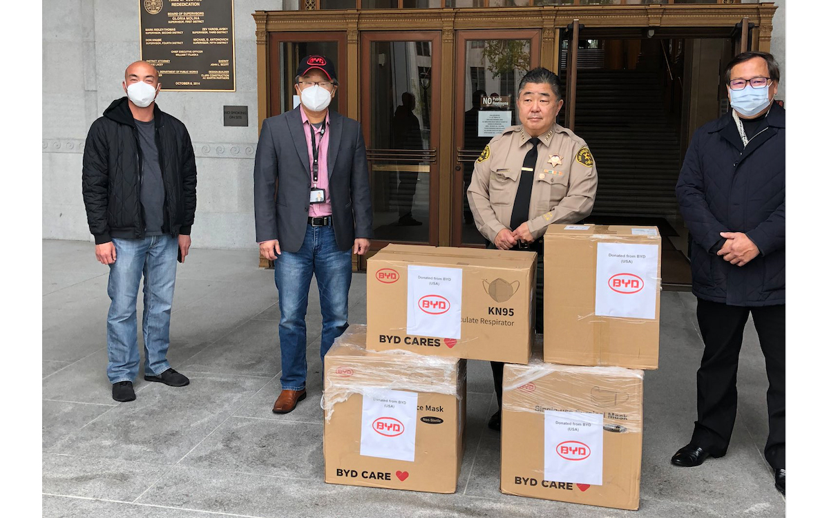 BYD Pledges $1 Million in Medical Supplies Donations