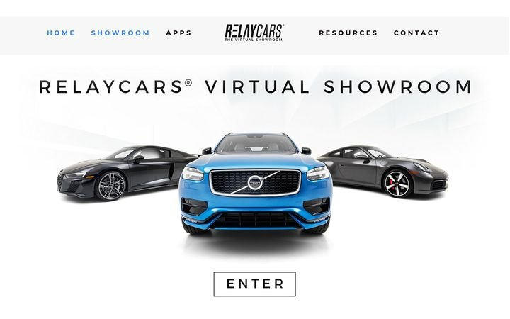 RelayCars®, the virtual reality car shopping experience, now allows users to visit a virtual showroom from a desktop device. - Image courtesy of RelayCars