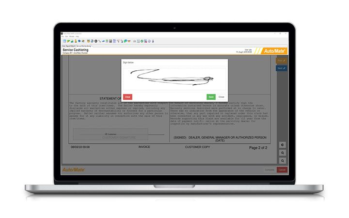 New feature allows dealership customers to pay ROs & parts invoices remotely. - Image provided by Auto/Mate