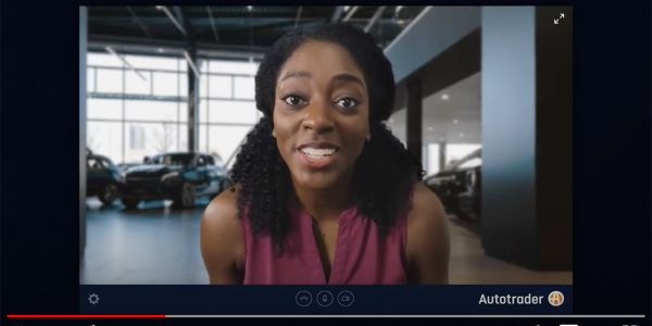 Ad highlights dealership capabilities available from home.