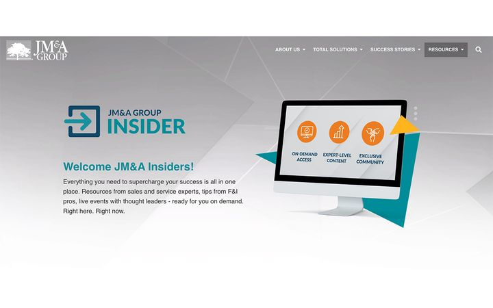 In an effort to further engage automotive professionals and provide valuable content, JM&A Group recently launched JM&A Insider, its own, on-demand collection of automotive resources. -