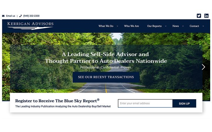 High dealership earnings drive buy/sell market to boomerang back in Q2, with first half of 2020 surpassing 2019, according to The Blue Sky Report® by Kerrigan Advisors; very active buy/sell market predicted for second half of 2020. - IMAGE: Kerrigan Advisors