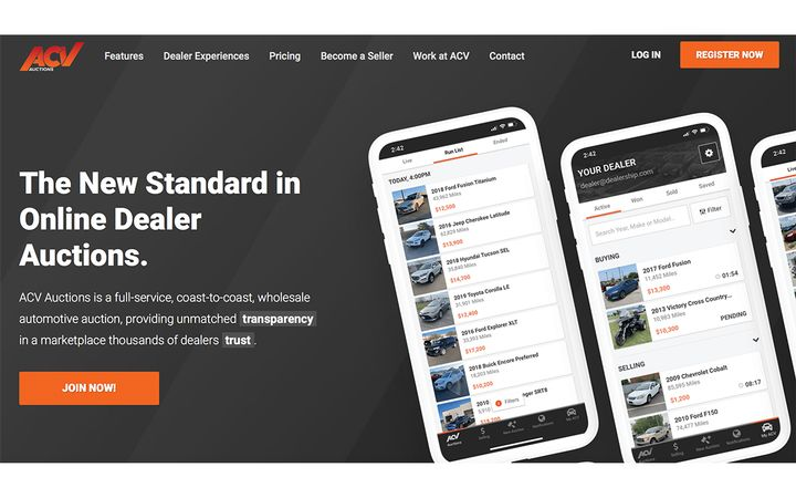 Marketplace 2.0 user experience delivers more streamlined interface, customized alerts and real-time notifications on auction activity. - IMAGE: ACVAuctions.com