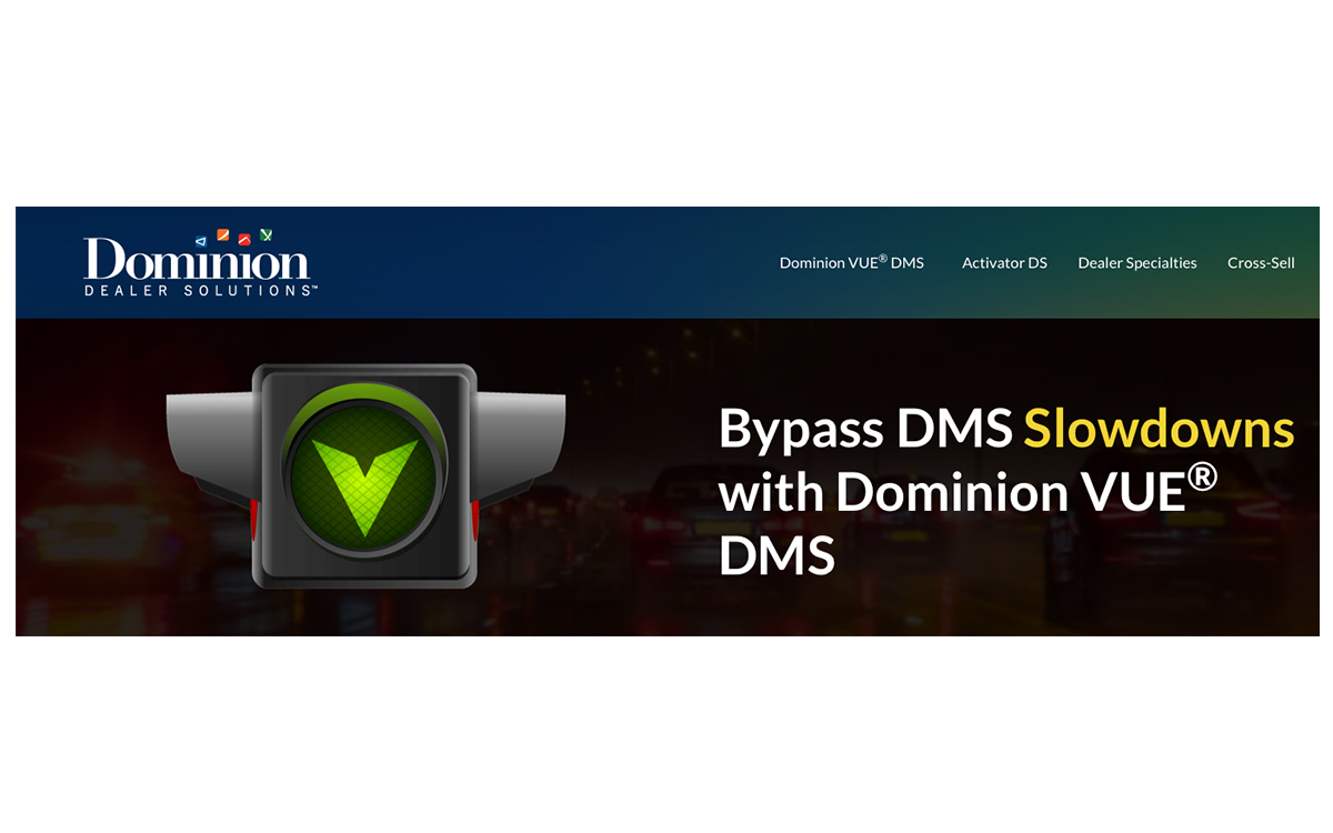New Dominion VUE DMS Helps Dealers Break Free with Mobility, Security and Efficiency