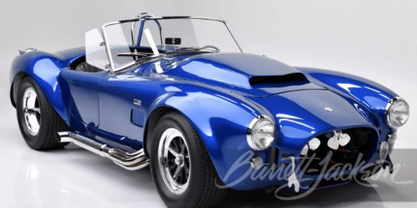 Notable recent auction sales include a 1966 Shelby Cobra 427 Super Snake.