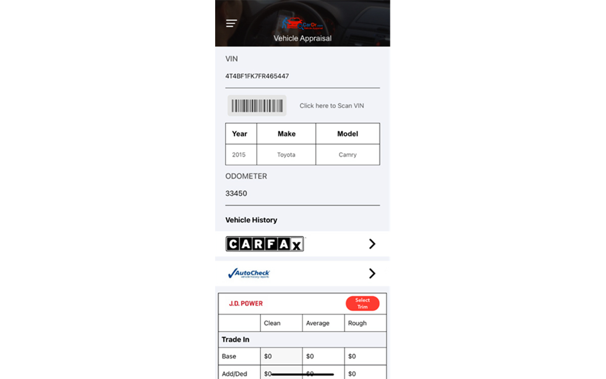 CARFAX Vehicle History Reports Now Integrated with CarDr.com's New Smartphone App
