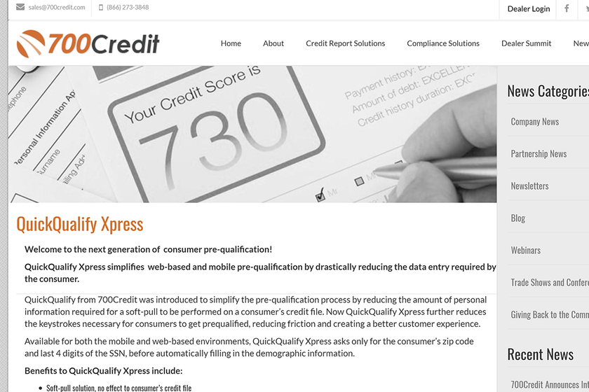 QuickQualify Xpress is a web-based solution designed to simplify the at-home credit application...