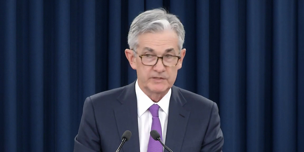 Federal Reserve Chairman Jerome Powell announced a hold on planned interest-rate hikes in a...