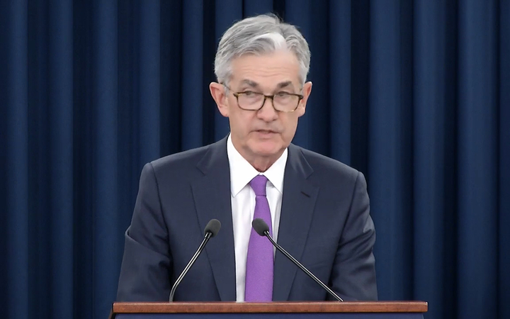 Federal Reserve Chairman Jerome Powell announced a hold on planned interest-rate hikes in a press conference Wednesday. 