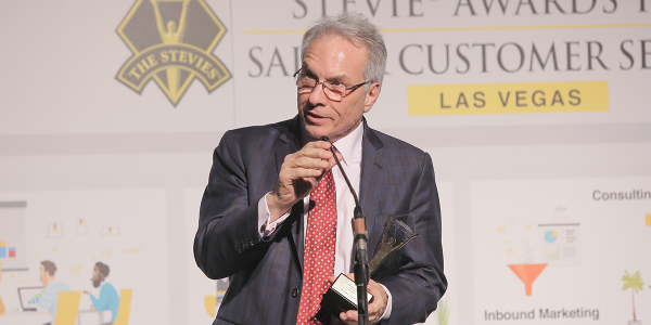 President and CEO John Pappanastos accepted five Stevie awards on behalf of EFG Companies, which...