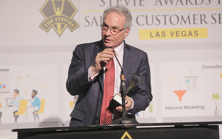 President and CEO John Pappanastos accepted five Stevie awards on behalf of EFG Companies, which scored wins in multiple categories for the fifth consecutive year. 