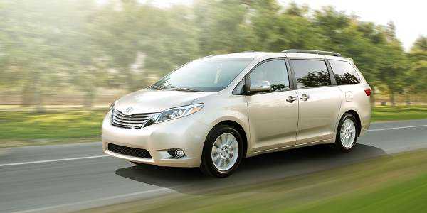 Minivans such as the 2015 Toyota Sienna were among the few segments to show a month-over-month...