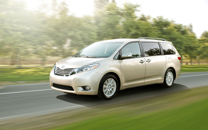 Minivans such as the 2015 Toyota Sienna were among the few segments to show a month-over-month improvement in average retained value in Black Book's March report. 