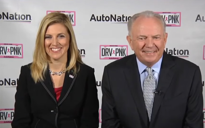 """Cheryl Miller and Mike Jackson appeared on CNBC's """"Squawk Box"""" to announce Miller's promotion from CFO to president and CEO of AutoNation, America's largest dealer group.   - YouTube"""