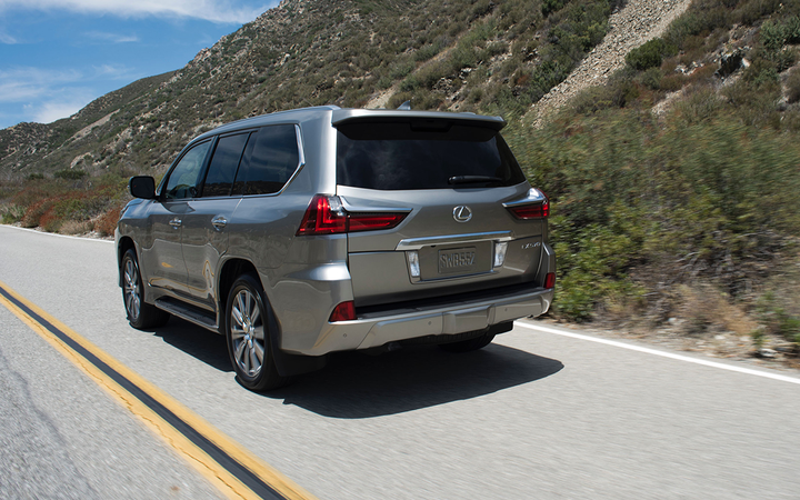 Retained values for such full-size luxury SUVs as the 2016 Lexus LX fell by nearly a full percentage point in Black Book's latest report.   - Photo courtesy Toyota Motor Sales USA