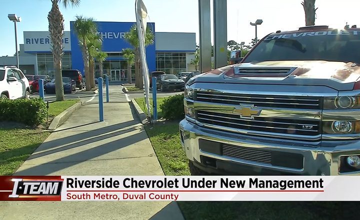The dealer at the now-defunct Riverside Chevrolet is permanently barred from owning or operating a dealership in Florida as part of a settlement relating to unpaid trade-in liens and taxes.  - YouTube