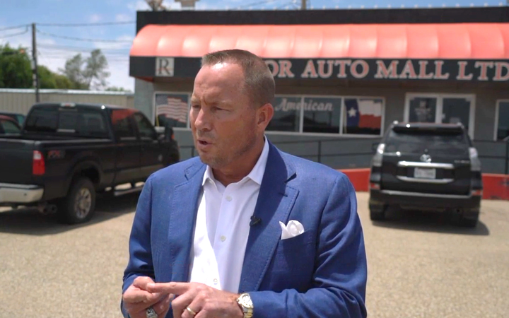 Bart Reagor (above) and former Reagor Dykes Auto Group partner Rick Dykes have each agreed or been ordered to pay damages exceeding $50 million to Ford Motor Credit Co.   - ABC7