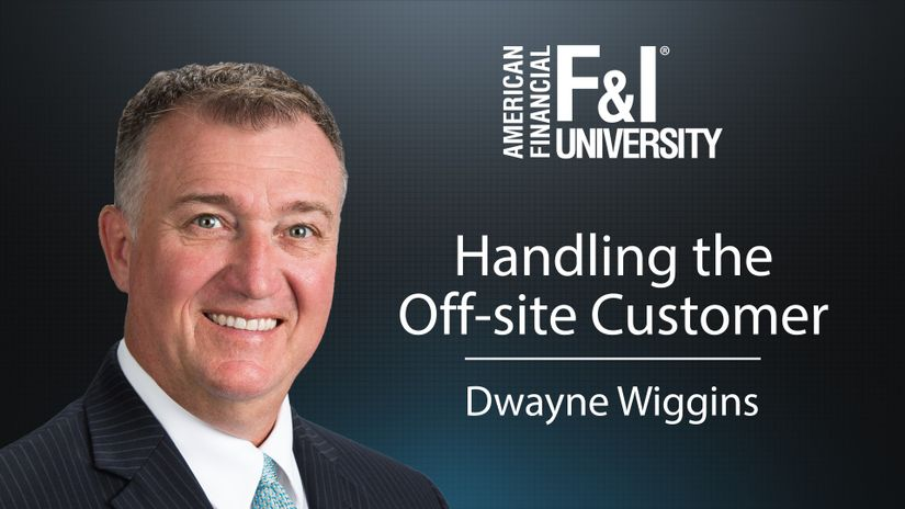 Dwayne Wiggins here with American Financial's F&I University and this is your Tip of the Week!