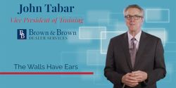 Very few things can completely crush credibility and trust with your customer more than an unprofessional comment being overheard in the dealership. Tune-in to this F&I Tip of the week, with John Tabar, to learn more!