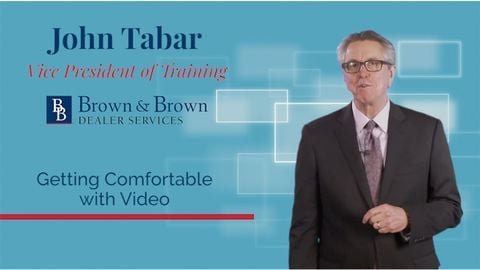 How comfortable are you with video? Build upon this skill with John Tabar in this F&I Tip of the...