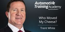 """In this video, Trent White from the Automotive Training Academy by Assurant references the story """"Who Moved My Cheese"""" and how it relates to the auto industry."""