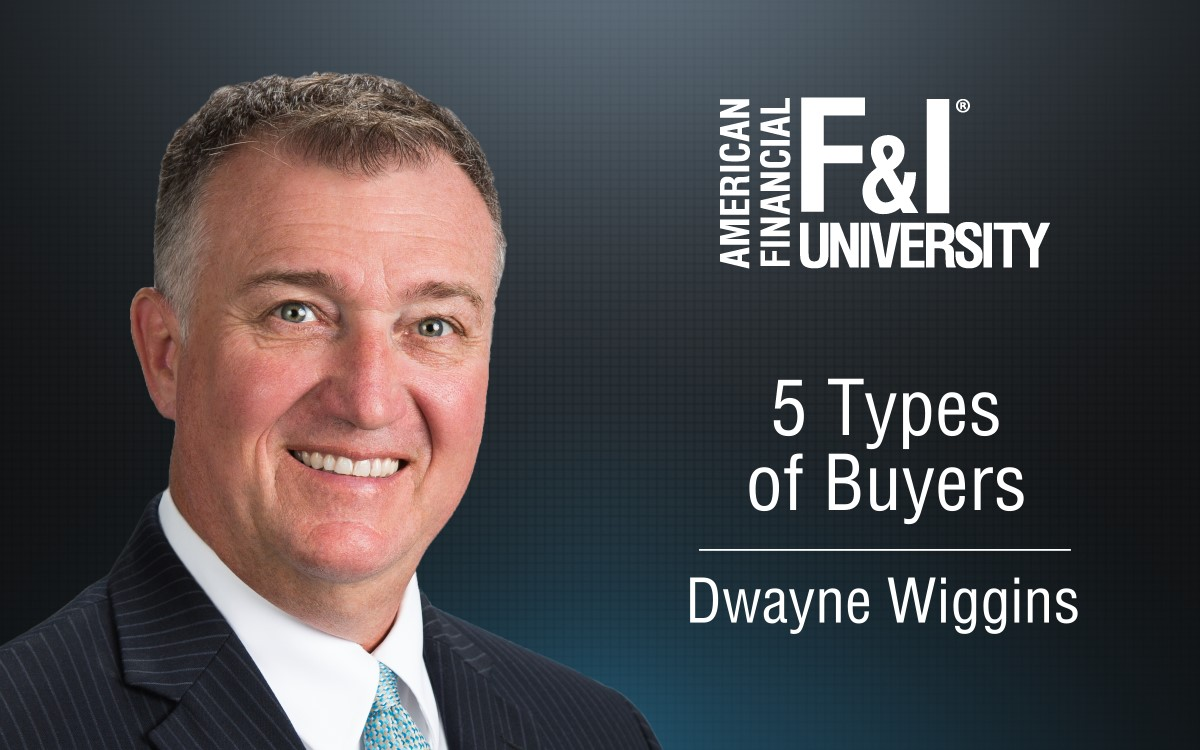 F&I Tip of the Week: 5 Types of Buyers