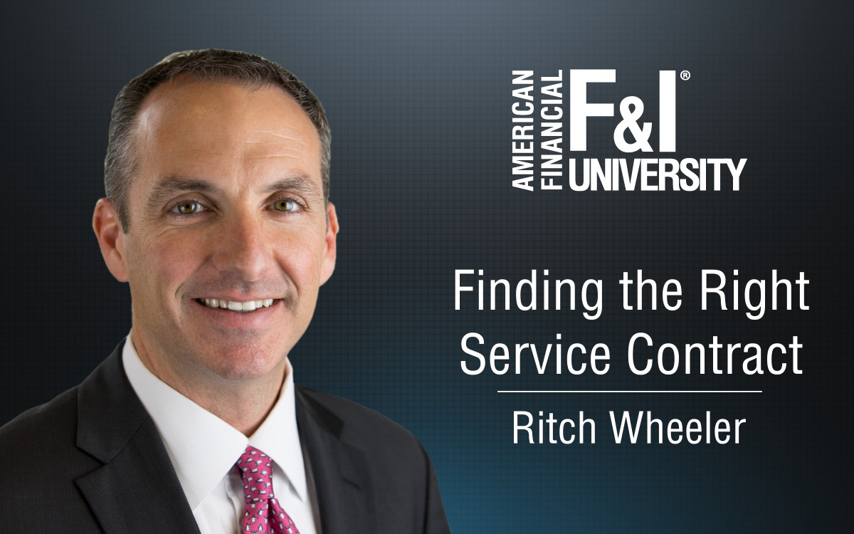 F&I Tip of the Week: Finding the Right Service Contract