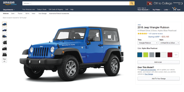"Amazon launched Amazon Vehicles in late August, billing its new portal as a ""car research..."