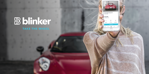 The Blinker app's image recognition technology allows users to stand behind a vehicle and snap a...