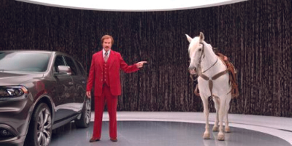 "A series of Dodge Durango commercials featuring actor Will Ferrell as Ron ""Anchorman"" Burgundy..."