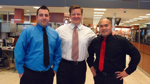 LaFontaine Automotive Group's digital marketing team members — (L-R) Jeremy Sheldon, Jason Stum...