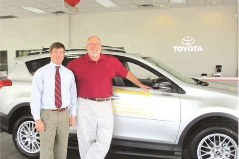 Blake Norberg of C.D. Norberg & Associates with Martin Wood, F&I manager for North Georgia Toyota.