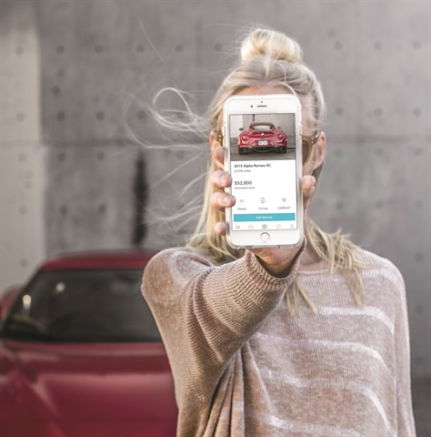 The Blinker app's image recognition technology allows users to stand behind a vehicle and snap a photo to receive details like year, make, model, approximate mileage, estimate value, and most of the vehicle's equipment.