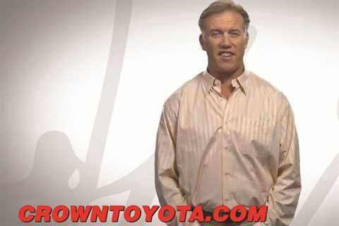 NFL legend John Elway plays an active role in marketing and promoting his Southern California dealership as CEO.
