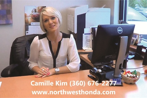 Northwest Honda's Camille Kim started shooting videos about the dealership's F&I products and process last September.