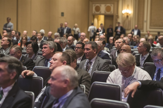 The audience stays engaged at the American Financial Services Association (AFSA)'s annual Vehicle Finance Conference & Expo last month in Las Vegas. The never preceded the National Automobile Dealers Association's annual convention. (Photo courtesy of AFSA)