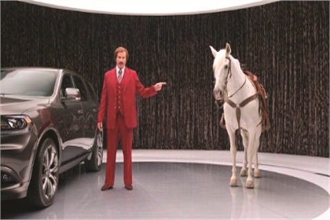 "A series of Dodge Durango commercials featuring actor Will Ferrell as Ron ""Anchorman"" Burgundy resulted in a significant boost in sales."