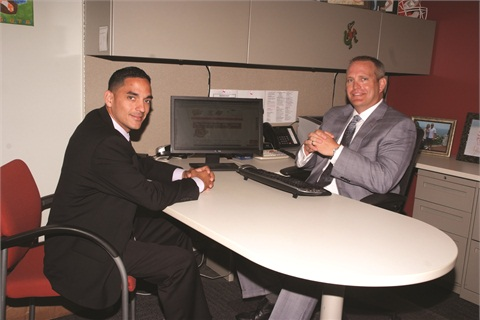 Sales Manager Mike Chaparro and Finance Director Chris Johansen help drive the online sales and finance process at Sun Toyota.