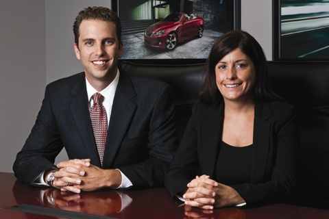 Keith Baer, Meade Lexus of Lakeside's business manager, and Kate Houlihan, Lakeside's sales manager, were surprised to find that women take about 17 weeks to make a buying decision.