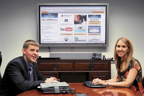 Dan Kilian and Kristina Reid, members of Meade Lexus' marketing team, have improved the dealer's online presence since completing the training.