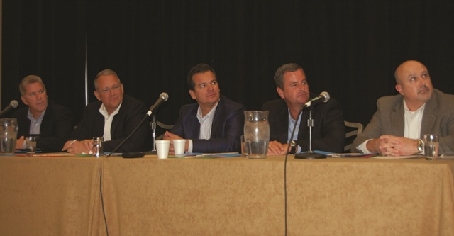 At the conference were executives Craig Hewitt, GM Financial; Kelly L. Mankin, TD Auto Finance; Walter Masnyj, Bank of America; Pete Carey, Toyota Financial Services, and Adam Pope, Wells Fargo Dealer Services.