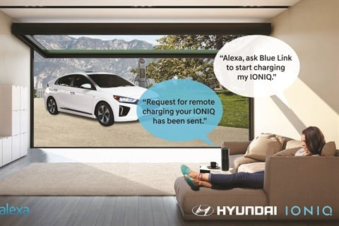 In November, Hyundai announced the addition of Amazon's Alexa to its Blue Link connected cars. The voice assistant allows Hyundai owners to remotely start and stop their cars, set climate control, lock or unlock the doors, and set off the horn. A similar partnership between Amazon and Hyundai's luxury marque, Genesis, was announced one week before the launch of Amazon Vehicles in August.